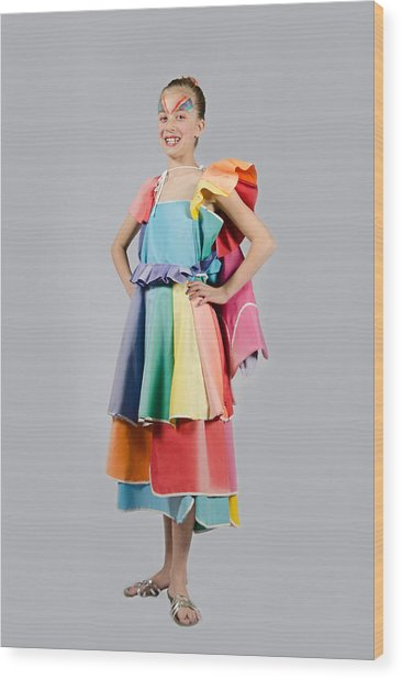 Aviva In Patio Umbrella Dress Wood Print