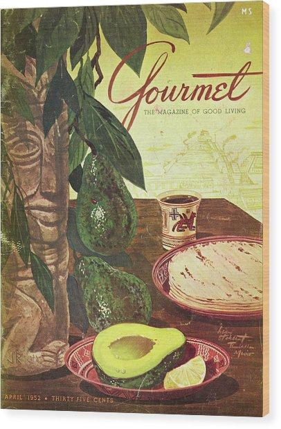 Avocado And Tortillas Wood Print