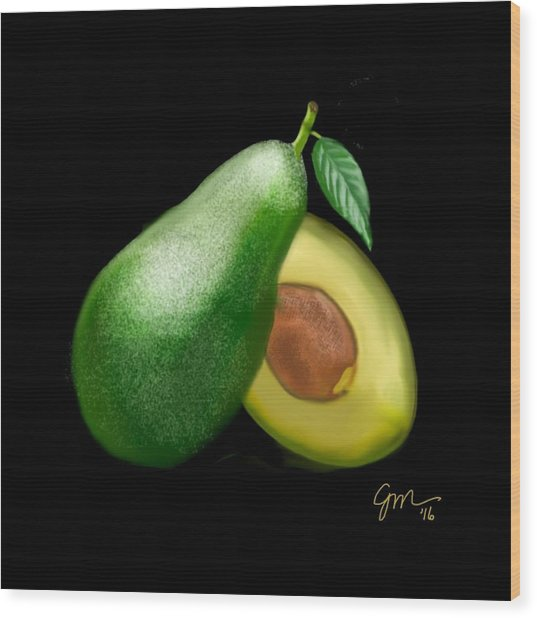 Avocado Wood Print