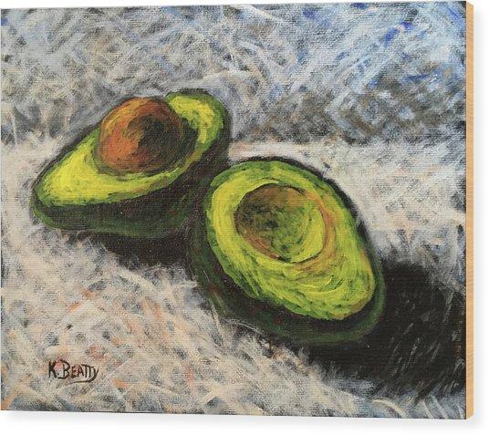 Avocado Study 1 Wood Print