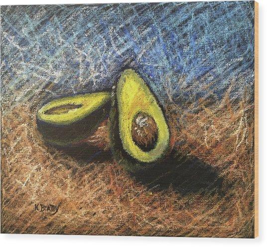 Avocado Study 2 Wood Print