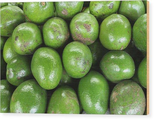 Avocados 243 Wood Print