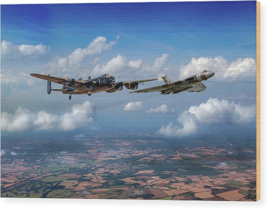 Wood Print featuring the photograph Avro Sisters  by Gary Eason