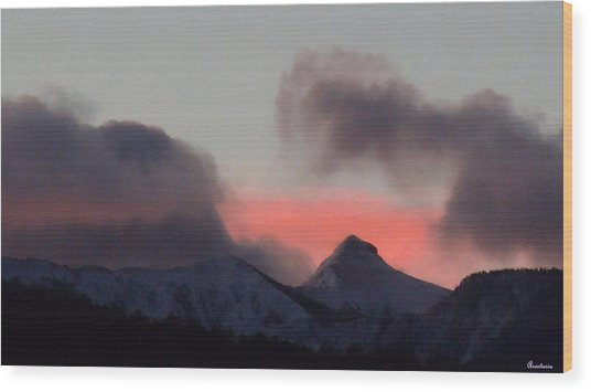Awaken The Dawn Over Sheeps Head Peak El Valle New Mexico Wood Print