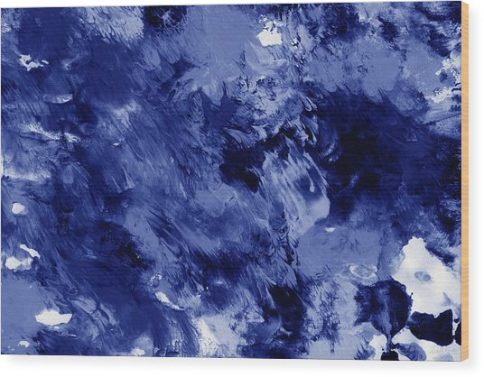 Awakened Sky- Abstract Art By Linda Woods Wood Print