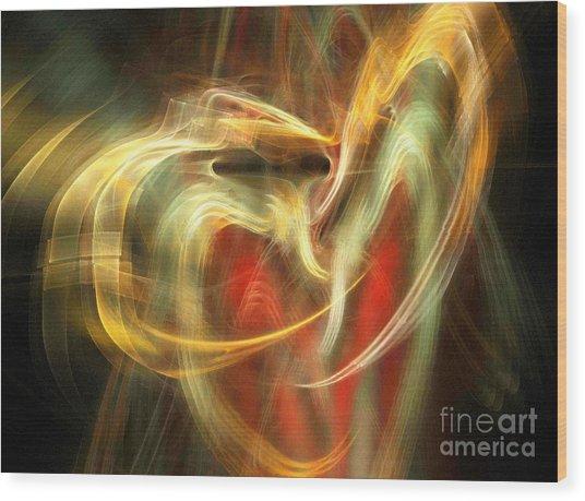 Awakening Heart Wood Print by Helene Kippert