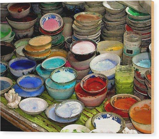 Awash In Color Wood Print