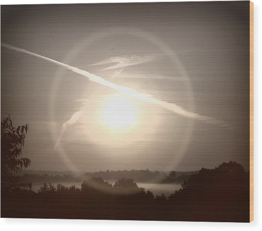 Awe Inspired Morning Wood Print by Cheryl Helms
