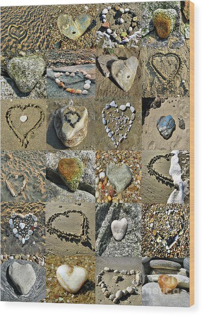 Awesome Hearts Found In Nature - Valentine S Day Wood Print