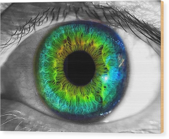 Aye Eye Wood Print
