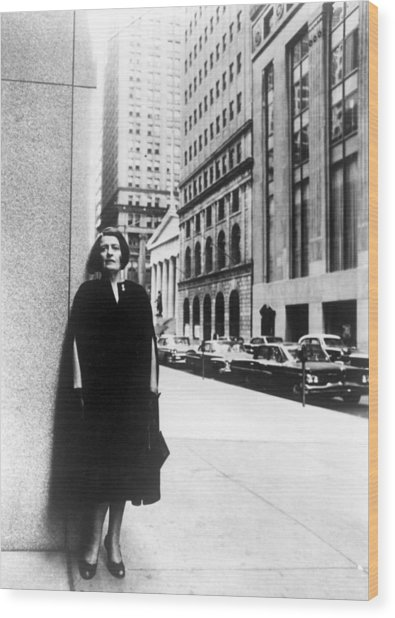 Ayn Rand Author Of Capitalism The Wood Print