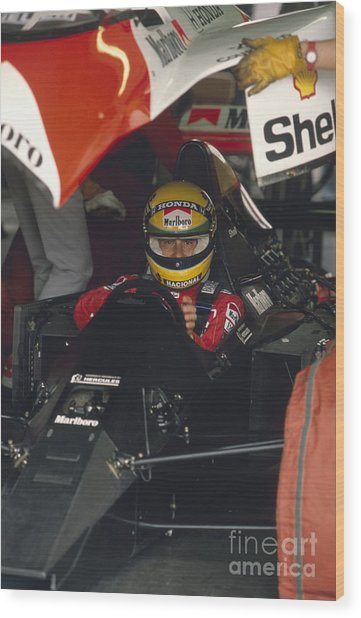 Ayrton Senna. 1990 Italian Grand Prix Wood Print