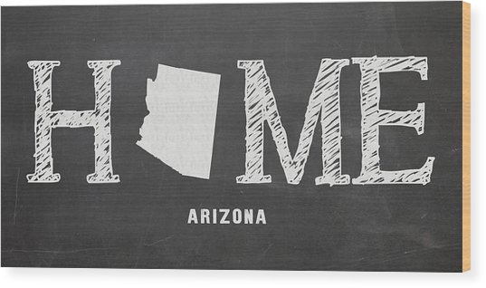 Az Home Wood Print