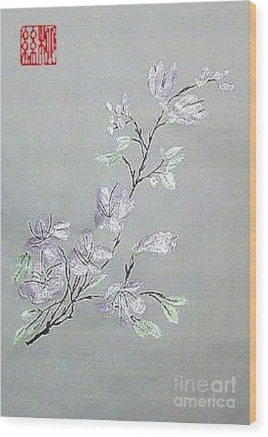 Azaleas Blooming Wood Print
