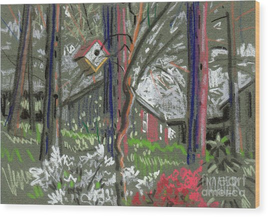 Azaleas In Spring Wood Print by Donald Maier