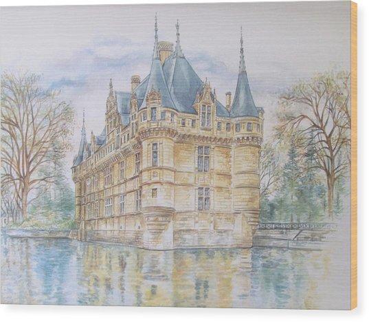 Azay Le Rideau Wood Print