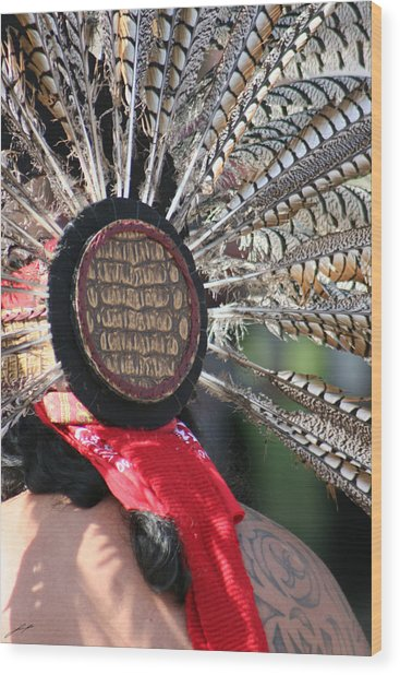 Aztec Danza 1 Wood Print by LoungeMode Productions