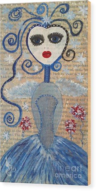 Azura Wood Print