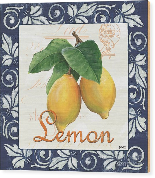 Azure Lemon 1 Wood Print