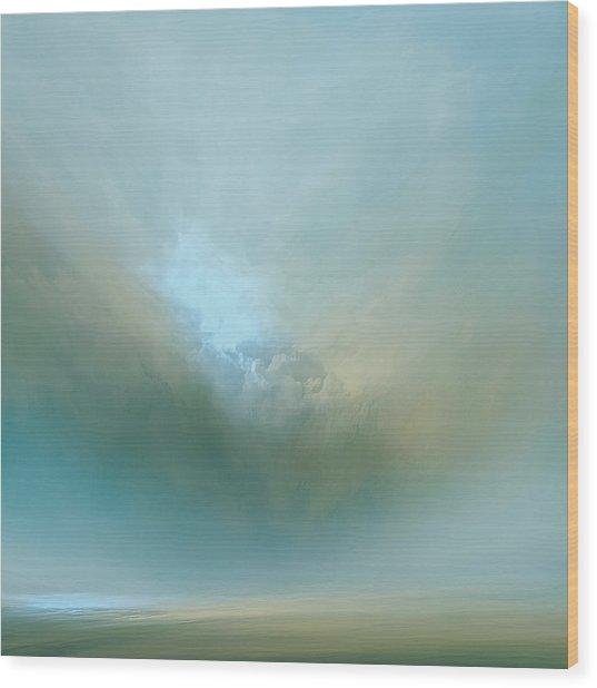 Azure Mist Wood Print