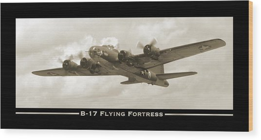 B-17 Flying Fortress Show Print Wood Print