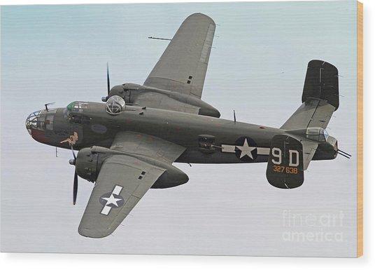 B-25 Mitchell Bomber Aircraft Wood Print
