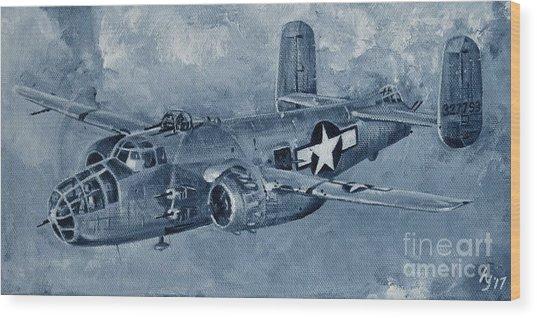 B-25 Mitchell Wood Print