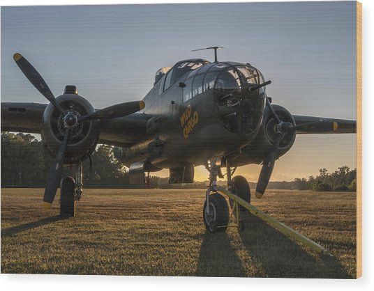 B-25 Mitchell Sunset Wood Print