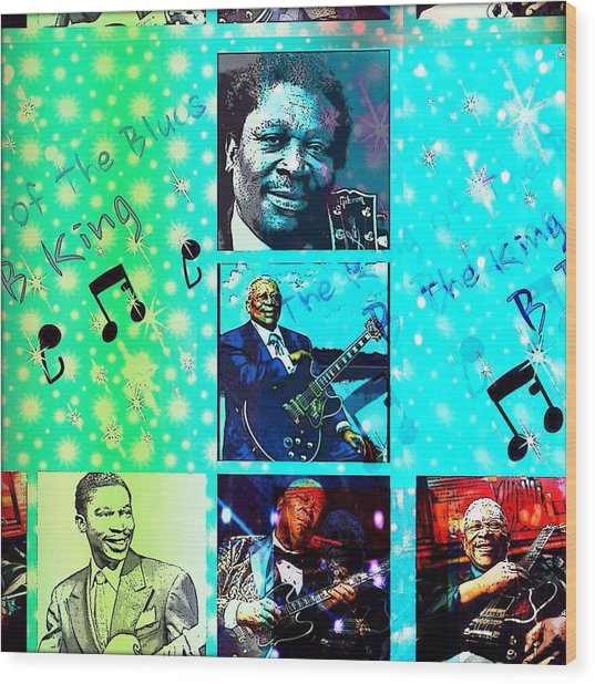 B B King Of The Blues  Wood Print