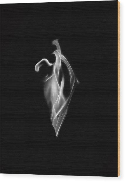 B/w Flame 7092 Wood Print