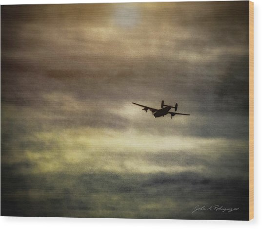 B24 In Flight Wood Print