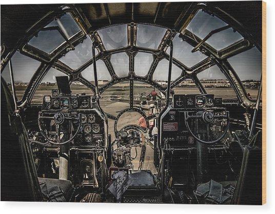 B29 Superfortress Fifi Cockpit View Wood Print