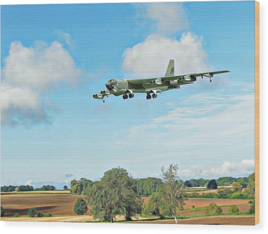 B52 Stratofortress -2 Wood Print