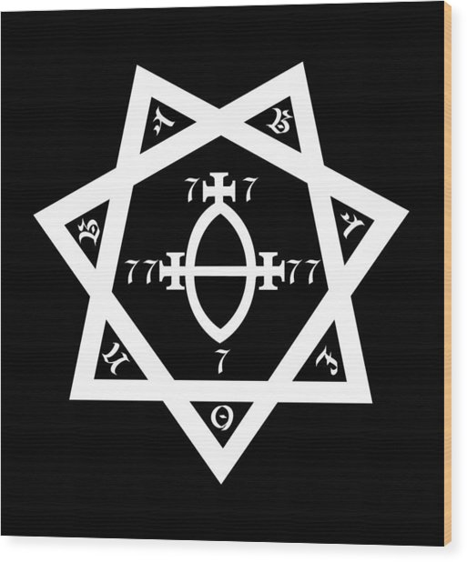 Babalon Seal Wood Print
