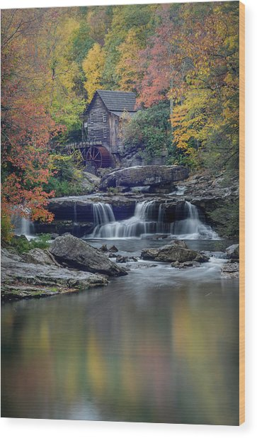 Babcock Grist Mill 2 Wood Print by Michael Donahue