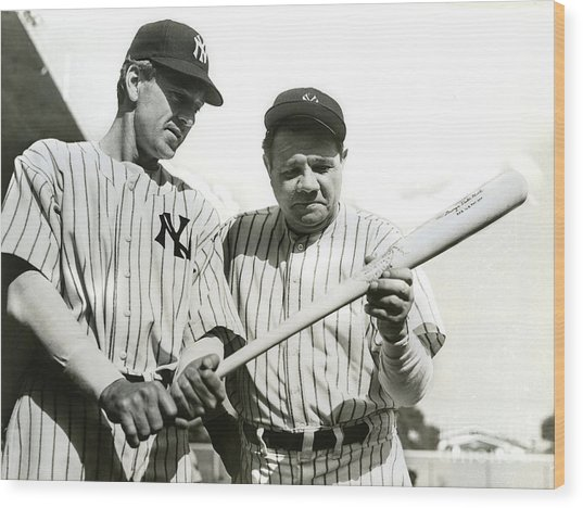 Babe Ruth And Lou Gehrig Wood Print