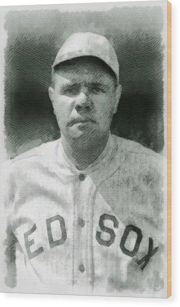 Babe Ruth, Baseball Player Wood Print