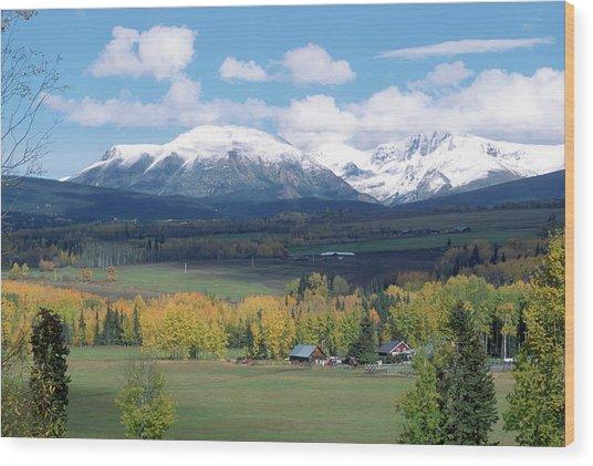 Babine Range-fall View Wood Print