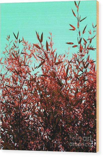 Baby Bamboo - Ochre  Wood Print