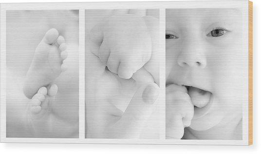 Baby Details Wood Print