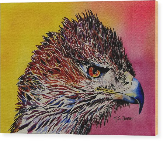 Baby Eagle Wood Print by Maria Barry