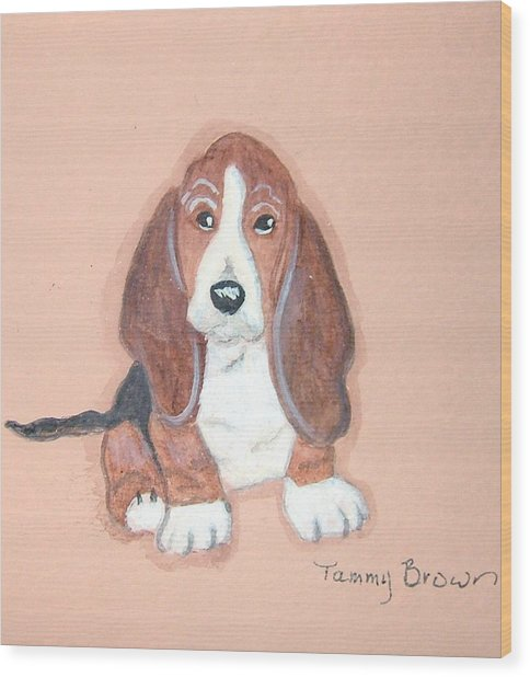 Baby Face Wood Print by Tammy Brown