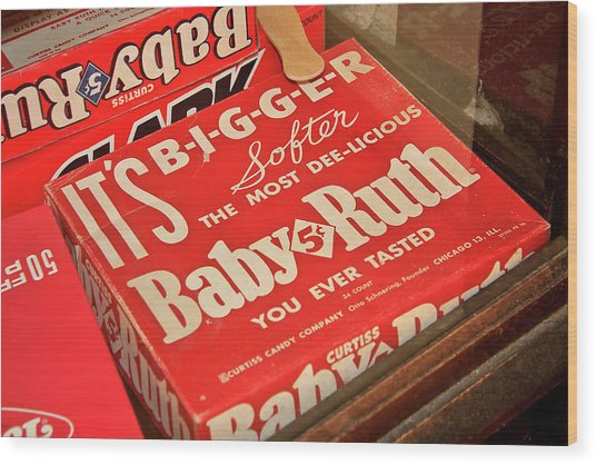 Baby Ruth Wood Print