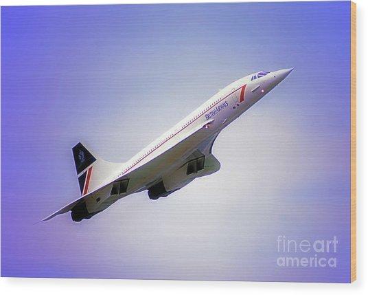 Bac Concorde  Wood Print