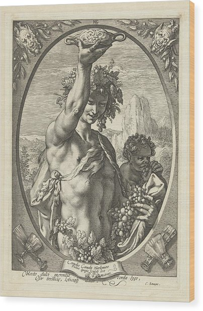 Bacchus God Of Ectasy Wood Print
