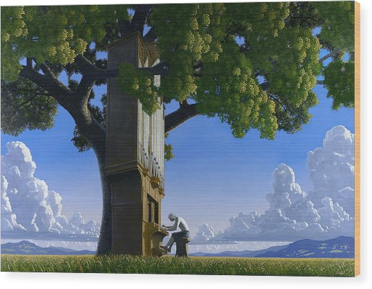 Bach In Heaven Wood Print by Jonathan Day
