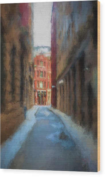 Back Bay Boston Wood Print