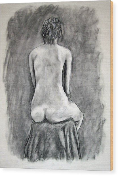 Back Beauty Wood Print