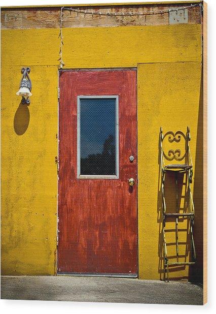 Back Door Wood Print