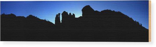 Back O' Beyond Wood Print by David Sunfellow
